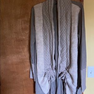 Venus Ruched Front Cardigan Sweater Size Large
